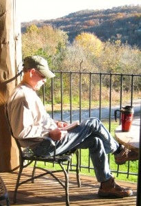 My dear husband studies the Bible every morning.