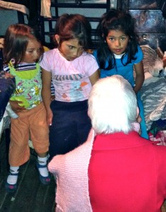 Millie teaches Colombian children about Jesus during a January 2014 missions trip.